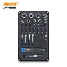 JAKEMY 6125 Professional Screwdriver Set with High Quality S-2 Driver Bit DIY Repair Tool Kit for Laptop Glasses Mobile Phone