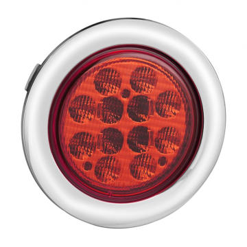 E-mark 4 tums Tail Lights krom grommet
