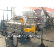 Two-stage single screw compounding extruder/pp pe recycling and granulator production line