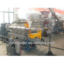 Dois estágios único parafuso composto extrusora / pp pe reciclagem e linha de produção granulador