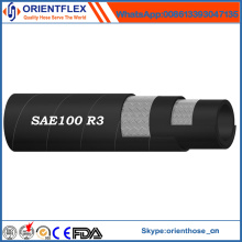 Manguera hidráulica SAE 100 R3 del caucho de la alta calidad