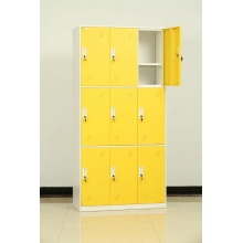 steel yellow 9 door locker