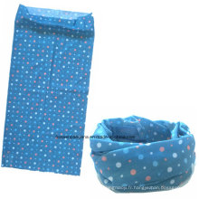 Chine Factory OEM Produce Polyester Multifonctionnel Outdoor Sports Girl's Blue Neck Tube Buff Scarf