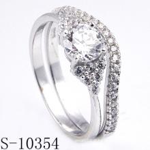 Anel de prata do ródio da forma para a joia de Customed (S-10354)