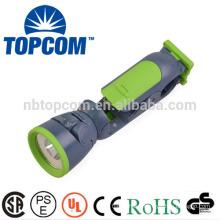 clip plastic flashlight 1 led