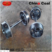 Ruedas del carro de la explotación minera del carbón de China