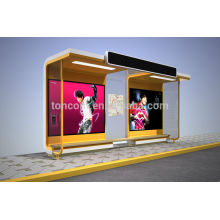 THC-56B transit shelter with lighting box and illumination