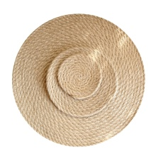 Round rattan placemat for table