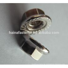DIN6923 Aço Inoxidável Cabeça Hexágono Flange Nut