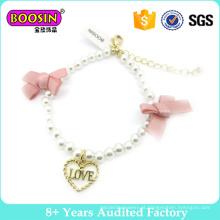 Moda jóias pérola charme pulseira para meninas bonitas