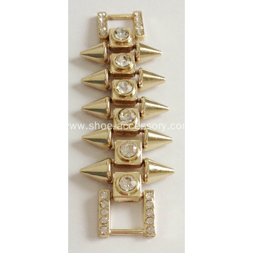Fashion Sandal Chain with Sharp Rivet Decoration, Rivet Rhinestone Chain, Rivet Style Decorative Accessories