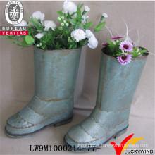 Sapato forma jardim metal plantador flower pot