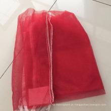 Saco de malha de lenha mono, costura inferior e top com cordão