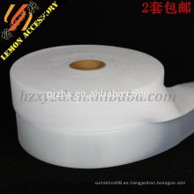 Gancho y lazo plásticos blancos vendedores calientes para la ropa, gancho y lazo del uso del equipaje