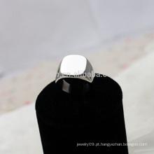 Personalizado personalizado aço inoxidável signet anel