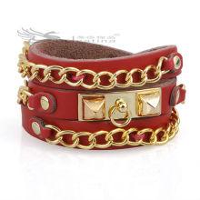 Модные кожаные браслеты Итальянские кожаные браслеты Изделия из натуральной кожи Никель и свинец Free Hot Items