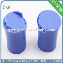 2015 tubos de ensayo de plástico calificados tapa de disco tapa de rosca tapa de rosca