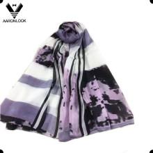 Moda de señora que imprime la bufanda de seda del 100% para la venta al por mayor