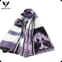 Lady′s Fashion Printing 100% Silk Scarf for Wholesale