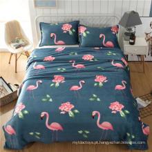 Os desenhos animados projetam a flanela cobertor de lã