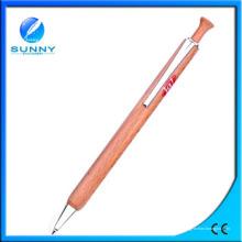 Nuevo bolígrafo de madera de diseño con clip de metal