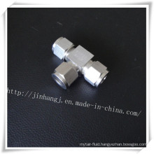 Three Head Stainless Steel Tube Fitting Pipe Fitting Three Ferrule