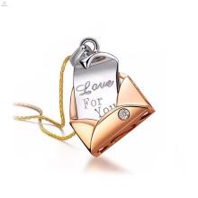 Medaillon Silber Hersteller Halskette für Mama mit Schreiben