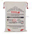China Supplier Promotional Christmas Cheap cotton canvas Santa Sacks For Gift Packing