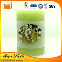 Vela perfumada de chá verde simples