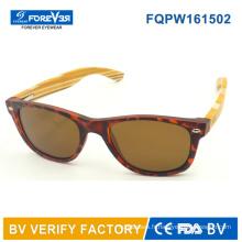 Fqpw161502 bonne qualité bambou coloré Temple lunettes de soleil