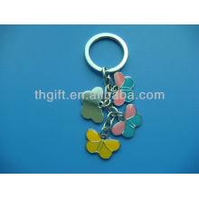 Porte-clés en métal design à papillon avec émail doux