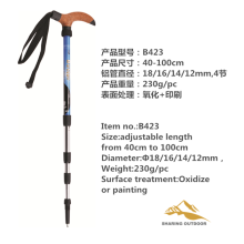 China for Foldable Alpenstock 40-100cm Length Trekking Poles supply to Gabon Suppliers