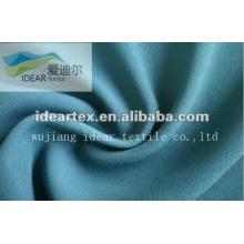 100% poliéster moda Faya azul tela para ropa de Dama
