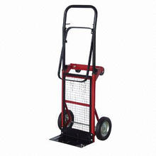 Hand Trolley with Steel Tube Frame, Rubber Wheel and 2-ply solid Tires