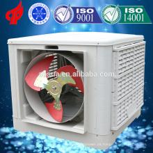 Refrigerador de aire de descarga lateral evaporativo montado en la pared en la India