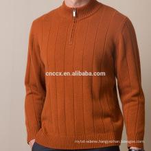 16STC8163 men turtleneck cashmere pullover with half zipper