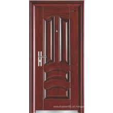 Painel clássico Porta de segurança de aço de design simples