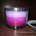 3 Wick Candles Same Color Shade Candles