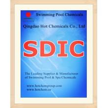 56%/60% SDIC Swimming Pool Disinfectant CAS No 2893-78-9