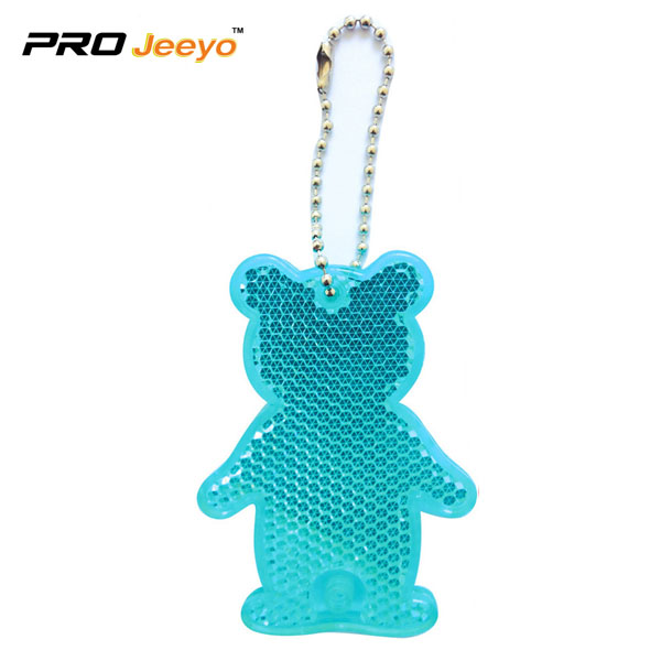 Reflective Safety Bear Children Bag Keychain RV-506 2 blue