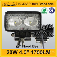 "Headlight Type automobile 4.3"" 20w portable led work light"