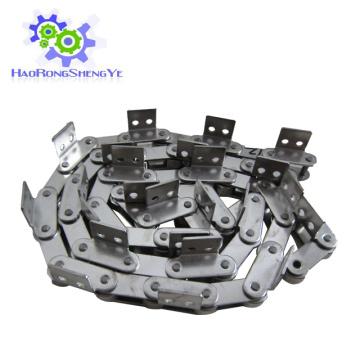 Cadena de paso doble de acero inoxidable con accesorio