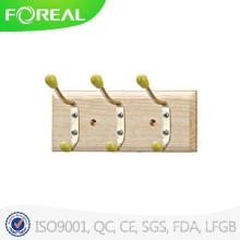 Wooden Clothes Hooks with Colorful Beads