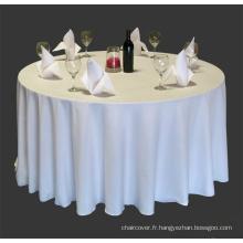 100 % polyester nappe de banquet / visa nappe / couverture de table polyester