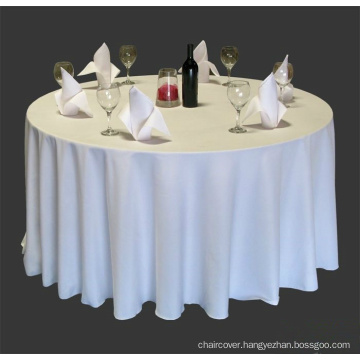 100% polyester banquet table cloth/ visa table cloth/ polyester table cover