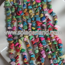 Freeform Natural Stone Chips Beads For Jewelry Making 31""