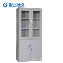SKH050 Glass Door Medical Office Cabinet With Lock