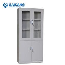 Armário médico do escritório da porta de vidro SKH050 com fechamento