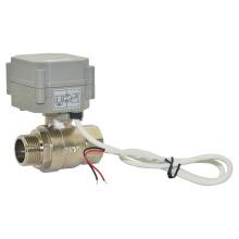CE / RoHS Mini 3/4 de pulgada de la válvula de bola de latón motorizado del flujo (T20-B2-A)