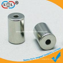 Aimant rond à trous de cylindre avec SGS